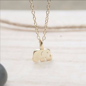 "Dainty ""Good Luck"" Elephant Pendant Necklace"